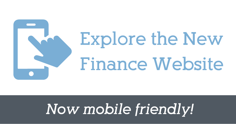 Explore the New Finance Website