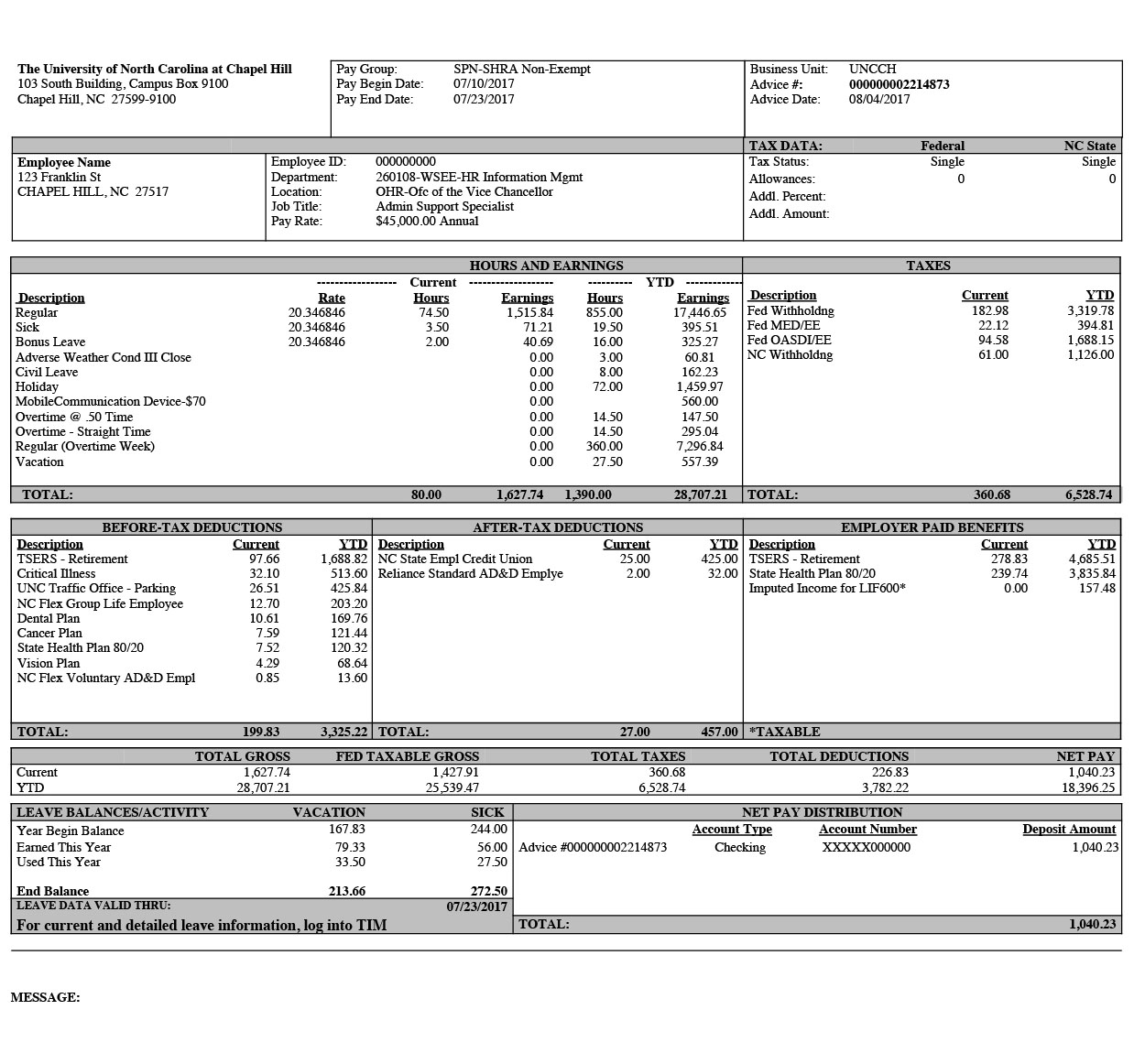 Paystub Finance And Budget