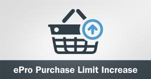 eProcurement Order Limit Increase